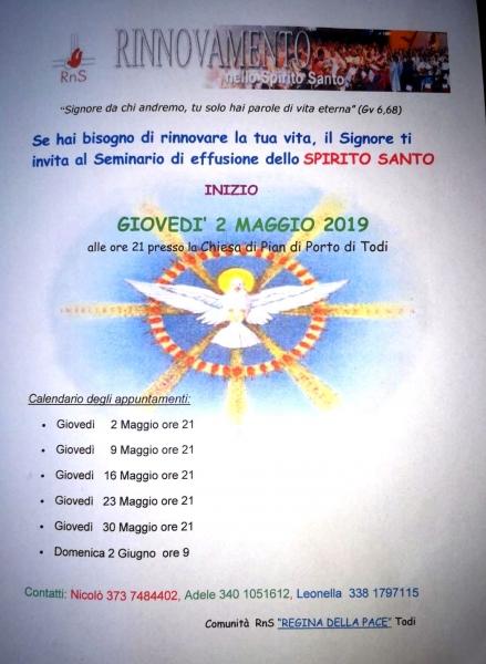 Parole Di Vita Calendario 2019.Rns Umbria Comitato Regionale